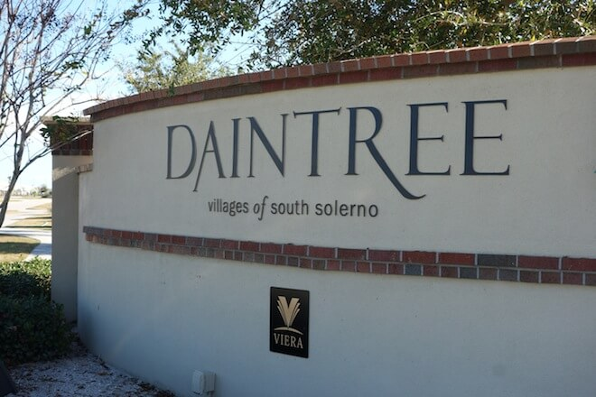 Daintree is an exceptional gated community in the master planned community of Viera.  Situated in the Villages of South Solerno, and north of Duran Golf Course, Daintree is comprised of a beautiful collection of lakefront single family, one-two story homes.